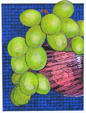 Bowl of Grapes by Janet Manalo
